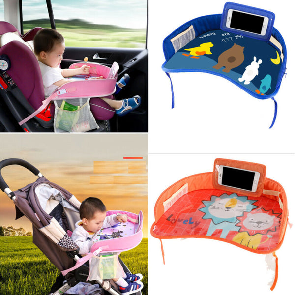 Multi function Waterproof Car Safety Seat Plate Eating Table Stroller Kids Baby Eating Cartoon Chair Tray Gift - The most popular products on Tiktok | GOWOW