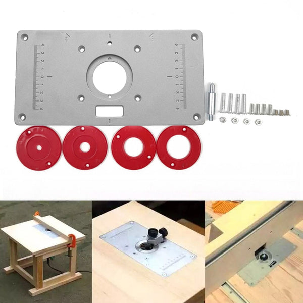 Multifunctional Aluminium Router Table Insert Plate Woodworking Benches Wood Router Trimmer Models Engraving Machine - The most popular products on Tiktok | GOWOW