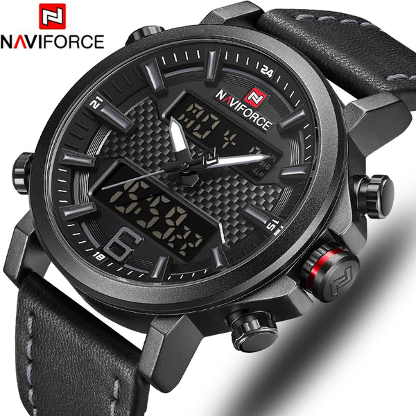 NAVIFORCE Top Luxury Brand Military Quartz Mens Watches LED Date Analog Digital Watch Men Fashion Sport Clock Relogio Masculino - The most popular products on Tiktok | GOWOW