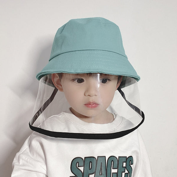 NEW Children Antibacterial Anti Fog Dust Cap 2 In 1 Hat For Kid Anti Flue Spittle Anti Dust Cover Full Face Eye Protect Hat Mask - The most popular products on Tiktok | GOWOW
