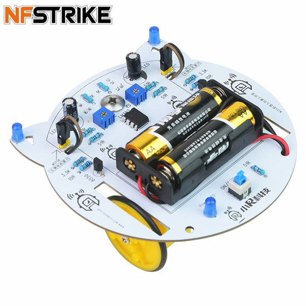 NFSTRIKE Mini Cat DIY Smart RC Robot Car Tracking STEAM Educational Kit Programmable Toys For Kids Boys - without battery - The most popular products on Tiktok | GOWOW