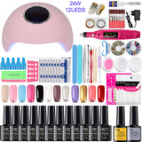 Nail Set UV LED Lamp Dryer With 18/12/10pcs Nail Gel Polish Kit Soak Off Manicure Tools Set electric Nail drill For Nail Tools - The most popular products on Tiktok | GOWOW