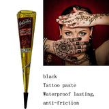 Natural Henna Cone Temporary Waterproof Tattoo Ink 30g Indian Black Tattoo Inks Body Tattoo Paint DIY Drawing Last 15 Days TSLM1 - The most popular products on Tiktok | GOWOW