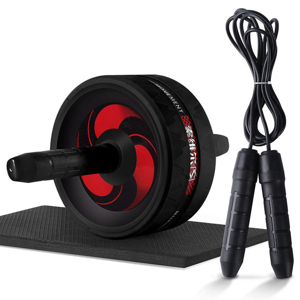 New 2 in 1 Ab Roller&Jump Rope No Noise Abdominal Wheel Ab Roller with Mat For Arm Waist Leg Exercise Gym Fitness Equipment - The most popular products on Tiktok | GOWOW