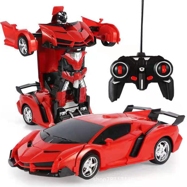 2 in1 RC Car Remote Control Robot One Button Transformation Car Toy Kids Gift ZU