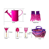 New 6Pcs/Set Mini Kids Garden Gloves Water Sprayer Bag Rake Home Gardening Beach Tool Toy - The most popular products on Tiktok | GOWOW