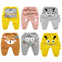 New Born Baby Boys Girls Cartoon Pants Spring High Waist Guard Belly Trousers Infant Baby Autumn Pp Pants Animal Print Bottoms - The most popular products on Tiktok | GOWOW
