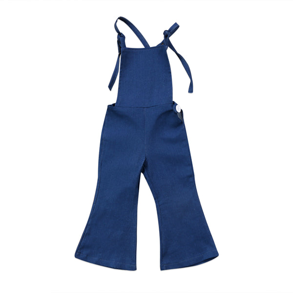New Fashion Toddler Kids Baby Girl Sleeveless Backless Strap Denim Overall Romper Jumper Bell Bottom Trousers Summer Clothes - The most popular products on Tiktok | GOWOW