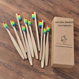 New design mixed color bamboo toothbrush Eco Friendly wooden Tooth Brush Soft bristle Tip Charcoal adults oral care toothbrush - The most popular products on Tiktok | GOWOW