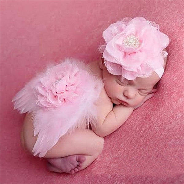 Newborn Photography Props Feather Angel Wings Flower Shower Gifts Girls boy hat Baby Photo Props Outfits - The most popular products on Tiktok | GOWOW