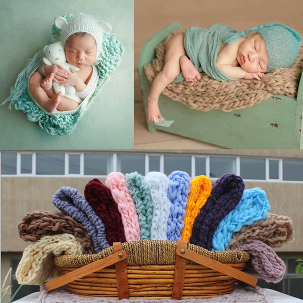 Newborn Photography Props Photography Blanket 55x55cm Woven Square Carpet Studio Baby Photo Props Blankets Cushion Accessories - The most popular products on Tiktok | GOWOW
