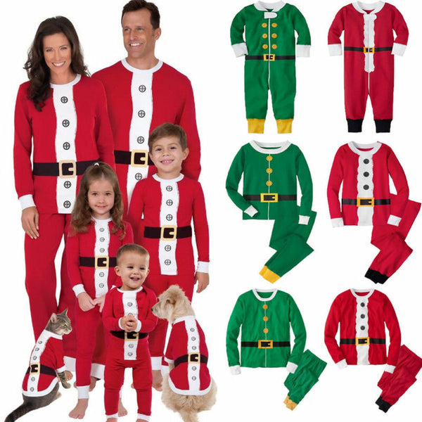 Newest Christmas Family Matching Pajamas Set Adult Kids Women Christmas Santa Claus Nightwear Photography Clothes - The most popular products on Tiktok | GOWOW
