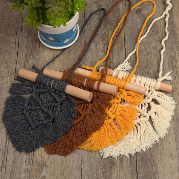 Nordic Baby Room Cotton Tassels Wall Hanging Handmade Macrame Home Decor Retro Handcrafted Girls Room Indian Decor - The most popular products on Tiktok | GOWOW