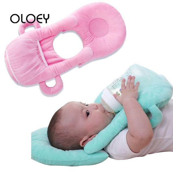 OLOEY Baby Bottle Holder Feed Pillow Infant Self Nursing pad Free Hand Cotton Children Milk Feeding Breastfeeding Bottle Rack - The most popular products on Tiktok | GOWOW