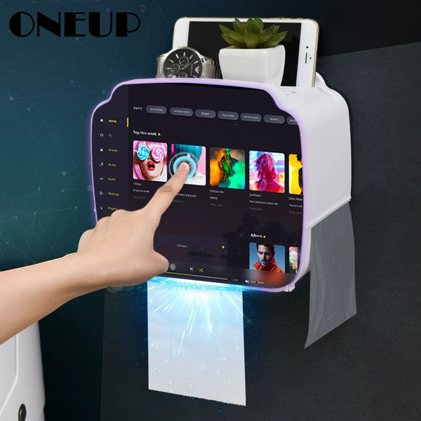 ONEUP Portable Toilet Paper Holder Plastic Waterproof Paper Dispenser For Toilet Home Storage Box Bathroom Accessories - The most popular products on Tiktok | GOWOW