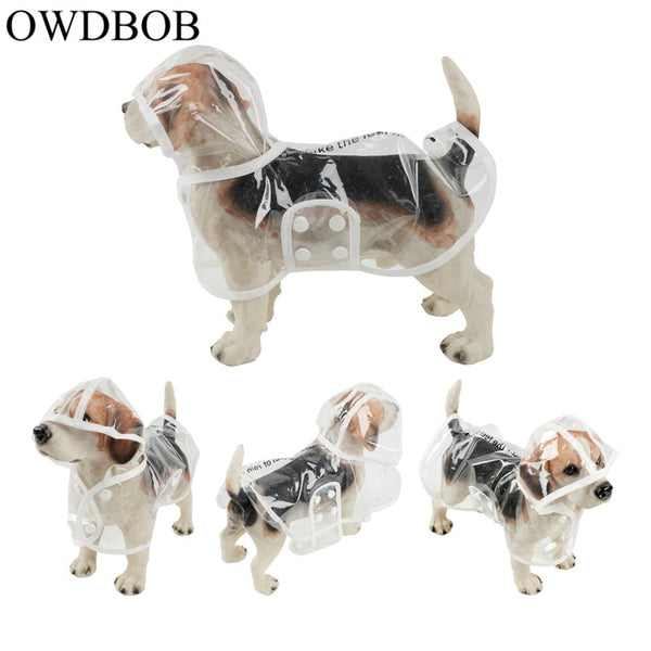 OWDBOB 1pc Waterproof Dog Raincoat with Hood Transparent Pet Dog Puppy Rain Coat Cloak Costumes Clothes for Dogs Pet Supplies - The most popular products on Tiktok | GOWOW