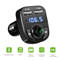 Onever FM Transmitter Aux Modulator Bluetooth Handsfree Car Kit Car Audio MP3 Player with 3.1A Quick Charge Dual USB Car Charger - The most popular products on Tiktok | GOWOW