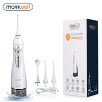 Oral Irrigator USB Rechargeable Water Flosser Portable Dental Water Jet 300ML Water Tank Waterproof Teeth Cleaner - The most popular products on Tiktok | GOWOW