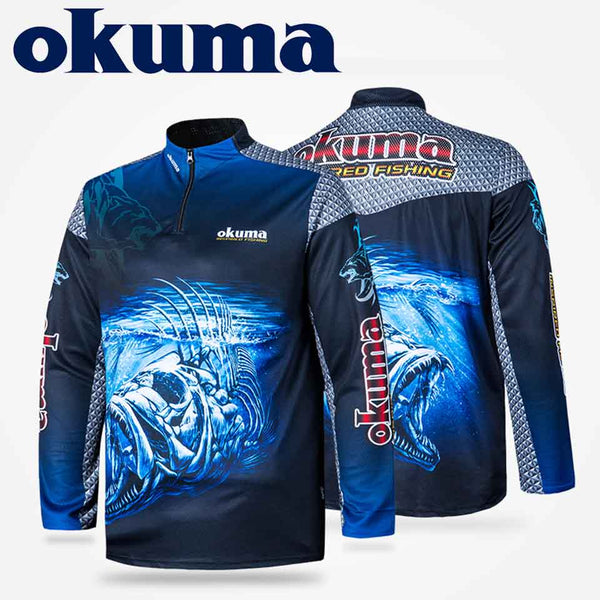 Original OKUMA Fishing Clothes Fishing Shirt Fishing Jerseys Breathable Sweat-absorbing Sunscreen Outdoor Sport - The most popular products on Tiktok | GOWOW