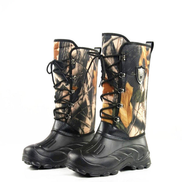 Outdoor Snow Boots Fishing Tactical Knee-High Camo Wellington Boots Camping Hiking Hunting Shoe Fishing Waders Waterproof Winter - The most popular products on Tiktok | GOWOW