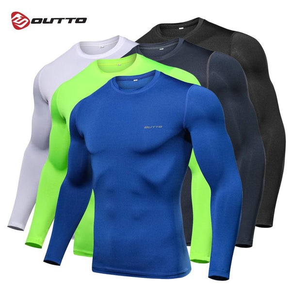 Outto Men's Cycling Base Layers Long Sleeves Compression Quick Dry Fitness Gym Running Bicycle Underwear - The most popular products on Tiktok | GOWOW
