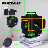 PRACMANU 16 Lines 4D Laser Level Level Self-Leveling 360 Horizontal And Vertical Cross Super Powerful Green Laser Level - The most popular products on Tiktok | GOWOW