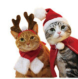 Pet Cat Dog Hat Red Scarf Christmas Holiday Costume Small Animals Clothes Set Pet Christmas antler headband  Z903 - The most popular products on Tiktok | GOWOW