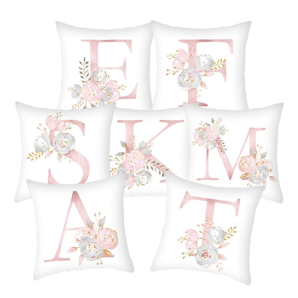Pillow Cover Decorative Pink Letter Printed Cushion Covers 45*45 Pillowcase Sofa Cushions Polyester cuscini decorativi 10062 - The most popular products on Tiktok | GOWOW