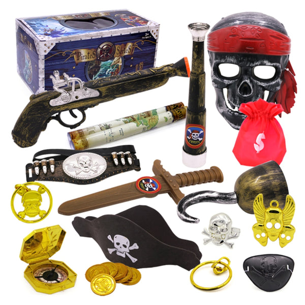 Pirate Theme Toys Supplier Party Toy Decoration Set  Dress Up Toy Treasure Box Type B Children Age 3+ Birthday Gift Kid's Party - The most popular products on Tiktok | GOWOW