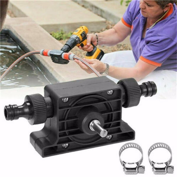 Portable Electric Drill Pump Sinks Aquariums Pool Self Priming Transfer Pumps Oil Fluid Water Pump Hose Clamps Connectors Set - The most popular products on Tiktok | GOWOW