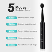 Powerful Ultrasonic Sonic Electric Toothbrush USB Charge Rechargeable Tooth Brushes Washable Electronic Whitening Teeth Brush - The most popular products on Tiktok | GOWOW