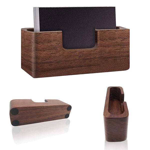 Practical Wood Business Case Filing Desk Professional Tables Organizer Card Display Holder Office Single Compartment Box Storage - The most popular products on Tiktok | GOWOW