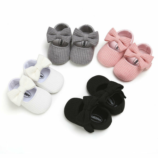 Pudcoco Baby Girl Princess Shoes Newborn Girls Bowknot Soft Bottom Casual Prewalkers For Baby Girl Crib Shoes 0-18Months - The most popular products on Tiktok | GOWOW