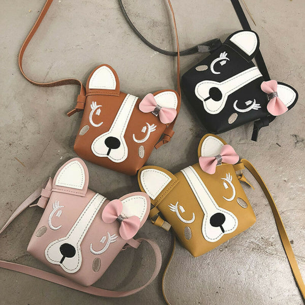 Pudcoco Hot Pretty Kids Girl Crossbody Mini Shoulder Bag PU Leather Cute Dog Bowknot Kids Girls Casual Messenger Bags Handbag - The most popular products on Tiktok | GOWOW