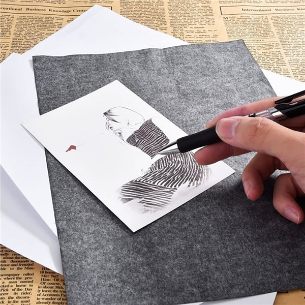 QIPA 100 Pcs/Set A4 size Thin Painting Accessories Legible Tracing Reusable Copy Clear High Quality Graphite Carbon Paper - The most popular products on Tiktok | GOWOW