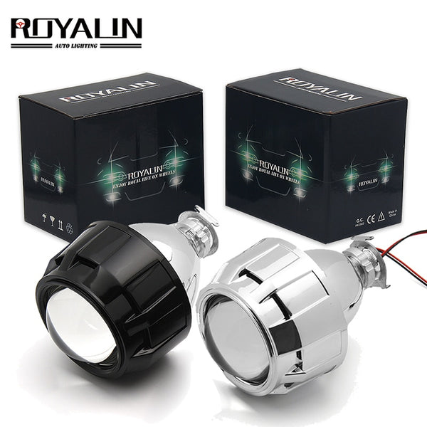 ROYALIN 2.5 inch Mini Bi Xenon HID Projector Headlight Lenses Retrofit Fit H4 H7 Car Head Lamp W/ Gating Gun Shrouds - The most popular products on Tiktok | GOWOW