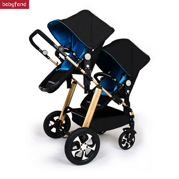 RU free shipping !Twins baby stroller black light baby stroller Multifunction double baby stroller Aluminum alloy  prams - The most popular products on Tiktok | GOWOW