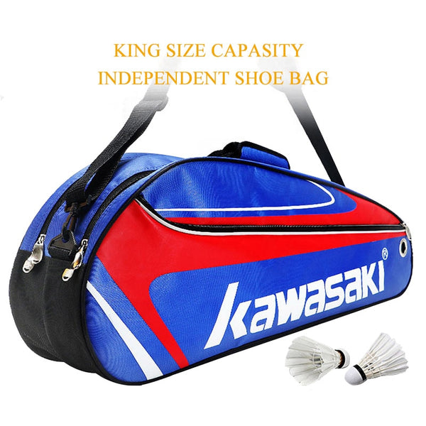 Racket Badminton Bag Waterproof Single Shoulder Squash Racquet Team Sports Bags Can Hold 3 Rackets With Shoe Bag Men - The most popular products on Tiktok | GOWOW