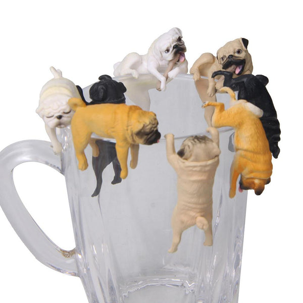 Realistic Mini Pug Dog Figurine Hanging on Cup Rim DIY Fairy Garden Accessory New - The most popular products on Tiktok | GOWOW