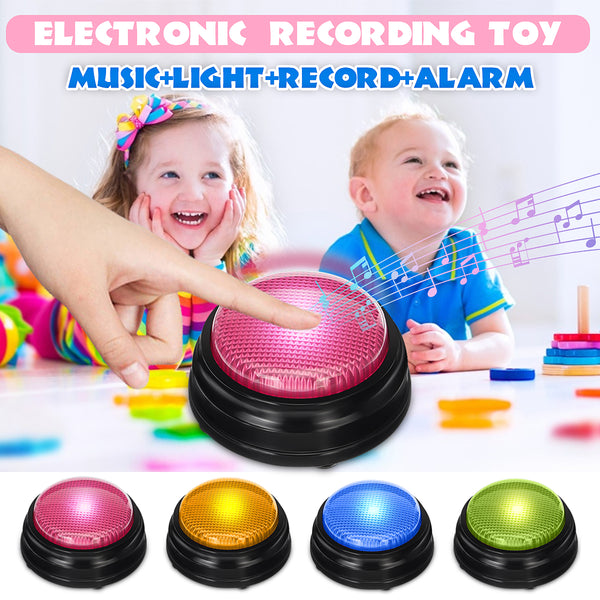 Recordable Talking Button Game Answer Buzzer Alarm Button with Led Adult Event Game Party Tools Bar Kids Children Toy Gifts - The most popular products on Tiktok | GOWOW