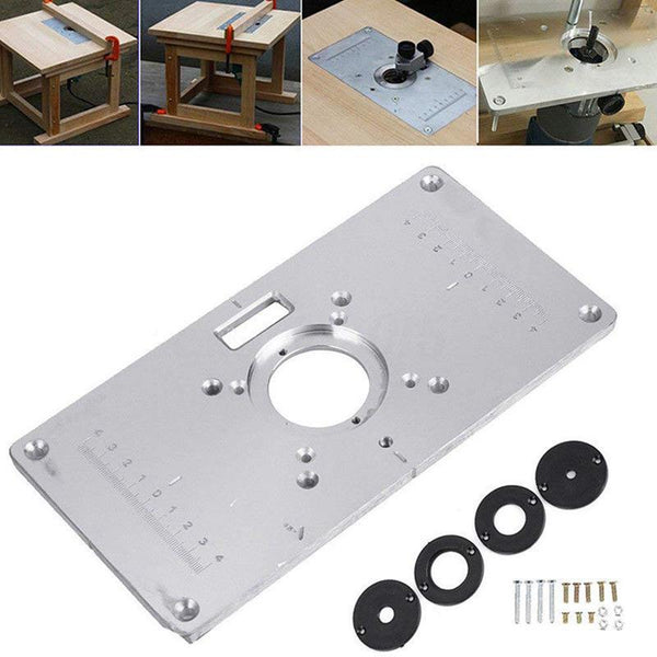 Router Table Plate 700C Aluminum Router Table Insert Plate + 4 Rings Screws for Woodworking Benches, 235mm x 120mm x 8mm(9.3in - The most popular products on Tiktok | GOWOW