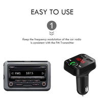 Rovtop Car Handsfree Wireless Bluetooth Kit FM Transmitter LCD Car MP3 Player USB Charger FM Modulator Car Accessories Z4 - The most popular products on Tiktok | GOWOW