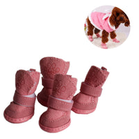 S-XXL Winter Warm Shoes for Dogs 4Pcs/Set Cute Dog Boots Snow Walking Cotton Blend Puppy Sneakers Pet Supplies - The most popular products on Tiktok | GOWOW