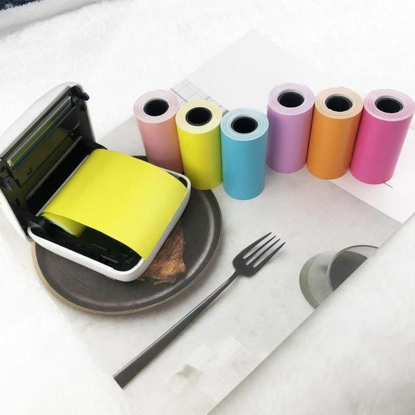 Self-adhesive Thermal Printing Paper Stickers 57x30mm Thermal Printing Paper Stickers Photo Printer - The most popular products on Tiktok | GOWOW