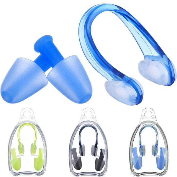 Soft Silicone Swimming Nose Clips + 2 Ear Plugs Earplugs Set Pool Accessories Water Sports Swimming Tools - The most popular products on Tiktok | GOWOW