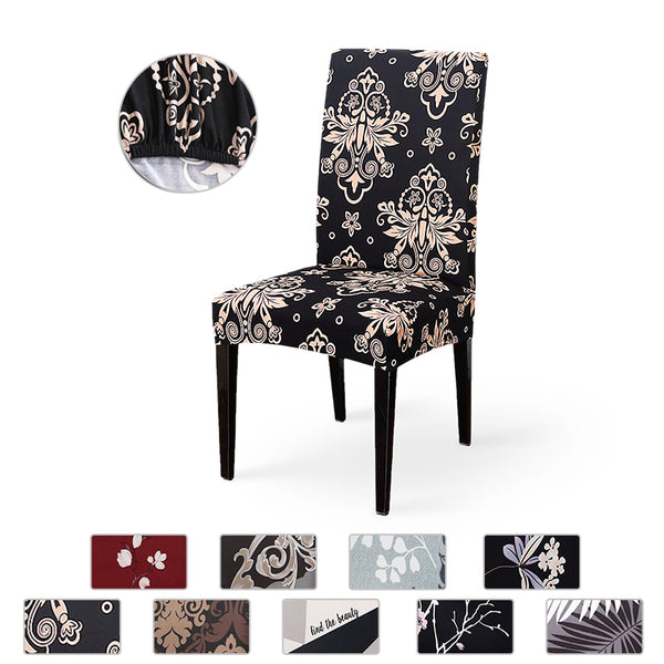 Spandex Elastic Printing Dining Chair Slipcover Modern Removable Anti-dirty Kitchen Seat Case Stretch Chair Cover for Banquet - The most popular products on Tiktok | GOWOW