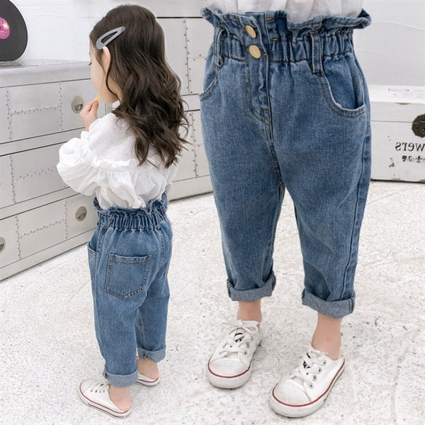 Summer Baby Girls Jeans Pants Kids Clothes Cotton Casual Children Trousers Teenager Denim Boys Clothes - The most popular products on Tiktok | GOWOW