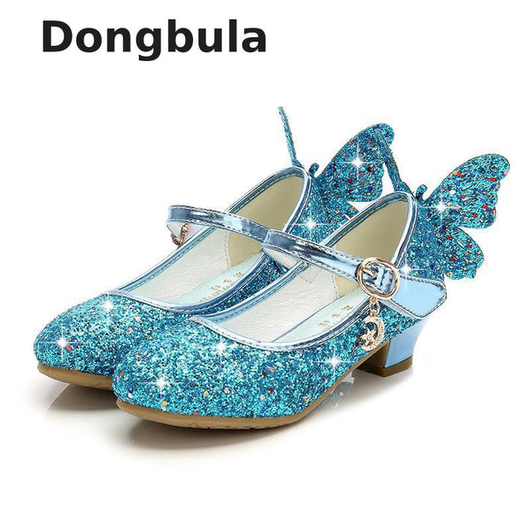 Summer Girls High Heel Princess Sandals Children Shoes Glitter Leather Butterfly Girls Kids Shoes For Party Dress Weddin Party - The most popular products on Tiktok | GOWOW