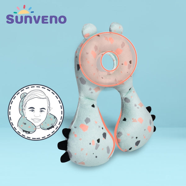 Sunveno Baby Neck Head Support Pillow Chin Supporting Patented Travel Pillow, Keeps Head from Bobbing up and Down for Baby 6-24M - The most popular products on Tiktok | GOWOW