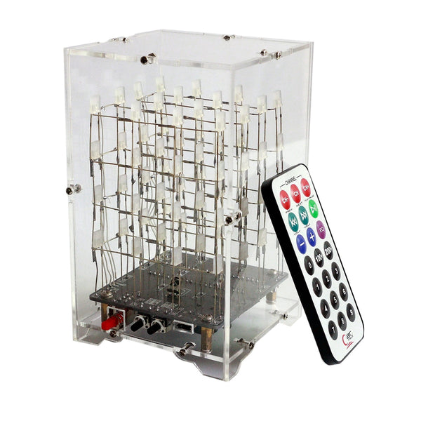 Surwish DIY Welding Electronic Bulk Parts Music Light Cube Kit (Remote Control, Seven Colours Changing, USB Power Supply) - The most popular products on Tiktok | GOWOW